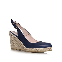 Carvela - Navy 'Kat' high heel wedges