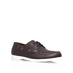 KG Kurt Geiger - Brown 'Phillip' Flat Boat Shoes