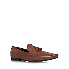 KG Kurt Geiger - Brown 'Craig' Flat Loafers