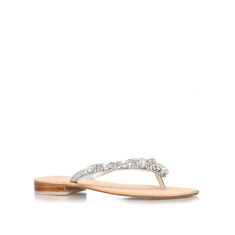 Carvela - Silver +Brea+ flat sandals