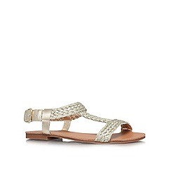 Carvela - Gold 'Kay' flat sandals