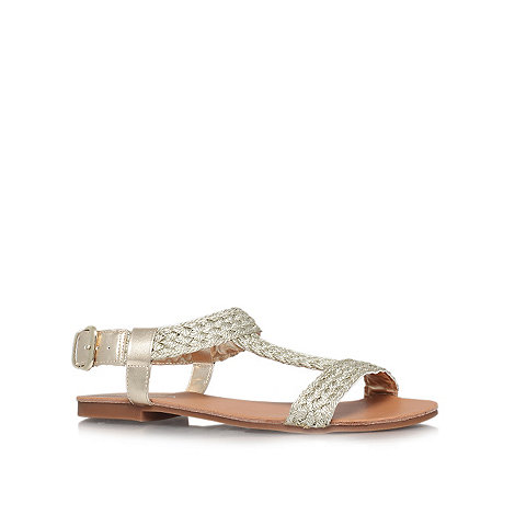 Carvela - Gold +Kay+ flat sandals