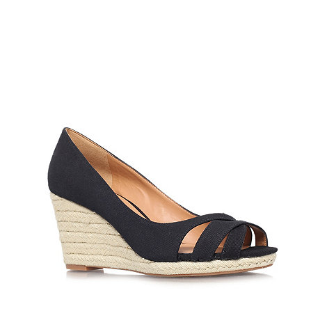 Nine West - Black +Jelica7+ high heeled wedged sandals