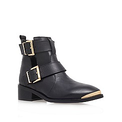 KG Kurt Geiger - Black 'Saxon' Low Heel Ankle Boots