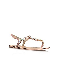 Carvela - White 'Kurrant' Flat Sandals