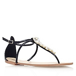 Miss KG - Black 'Delight' flat strappy sandal