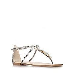 Miss KG - Beige 'delight' flat t-bar sandals