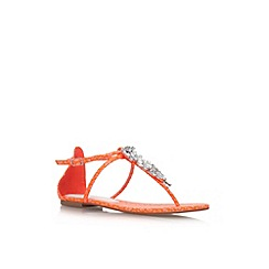 Miss KG - Orange 'Delight' flat strappy sandal