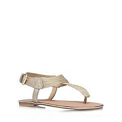 Carvela - Gold 'Klassic' flat sandals