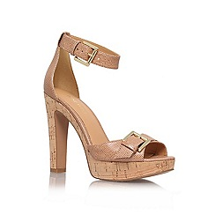 Nine West - Nude '1deline' high heel platform sandals