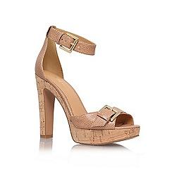 Nine West - Nude '1deline' high heel platform sandals
