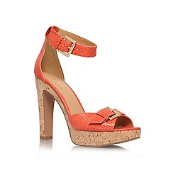 Nine West - Orange '1deline' high heel platform sandals