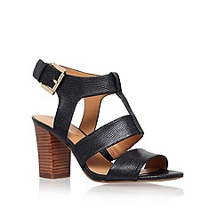 Nine West - Black 'Jelanie' mid heel sandals