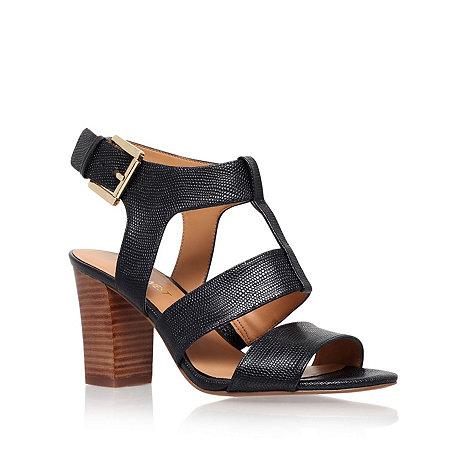 Nine West - Black +Jelanie+ mid heel sandals