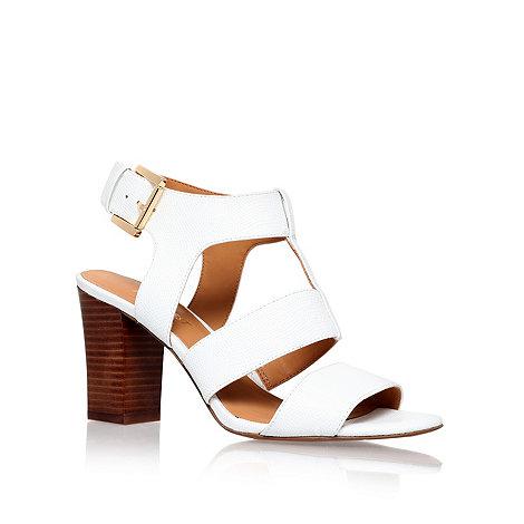Nine West - White +Jelanie+ mid heel sandals