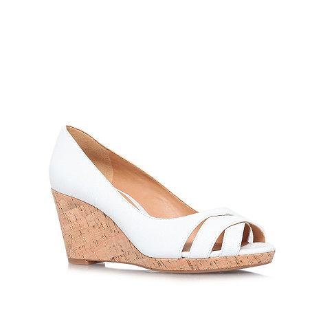 Nine West - White +Jelica+ high heeled wedges