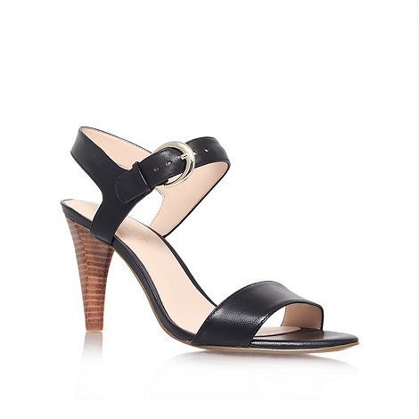 Nine West - Black +Marybeth+ mid heel sandals