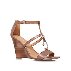Nine West - Brown 'Mirabilis' high heel wedge sandals