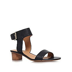 Nine West - Black 'Tasha' low heeled sandals