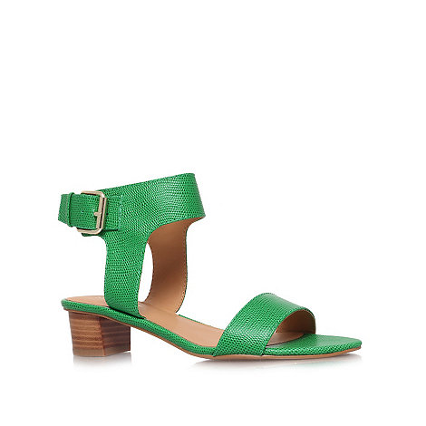 Nine West - Green +Tasha+ low heel sandals