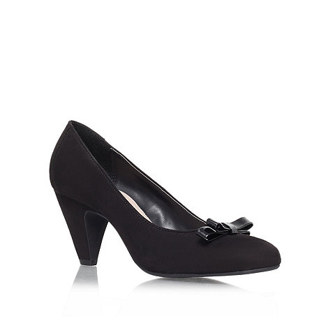 Carvela - Black +kelly+ mid heeled court shoe