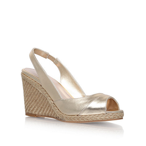 Carvela - Gold +Susan+ high heel espadrille wedges