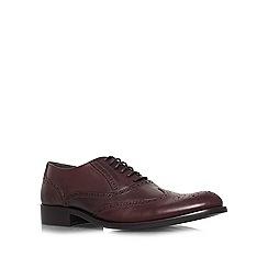 KG Kurt Geiger - Brown 'Sandingham' flat brogue shoes