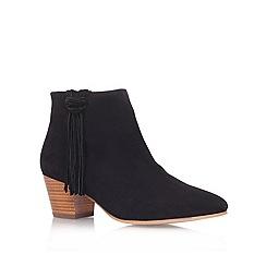 KG Kurt Geiger - Black 'Shimmy' leather low heel ankle boots