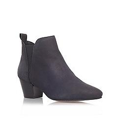 KG Kurt Geiger - Black 'Saffron' mid heel chelsea boots
