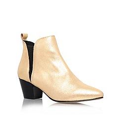 KG Kurt Geiger - Gold 'Saffron' mid heel chelsea boots