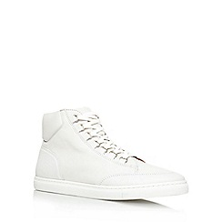 KG Kurt Geiger - White 'Brickers' flat hi-top trainers