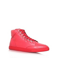 KG Kurt Geiger - Red 'Brickers' flat hi-top trainers