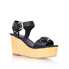 Miss KG - Black 'polly' high heel platform sandals