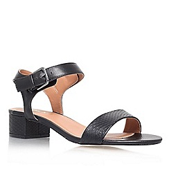 Miss KG - Black 'pamela' low heel sandals