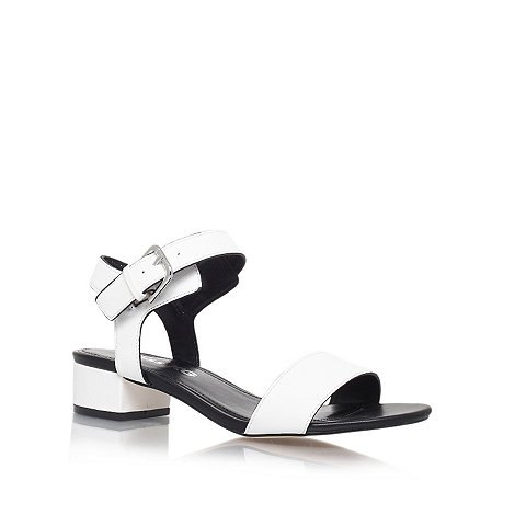 Miss KG - White +Pamela+ low heel sandals