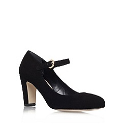 Carvela - Black 'Alkaline' mid heel court shoes