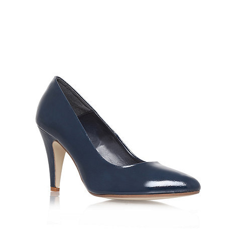 Carvela - Navy +Acid+ high heel court shoes