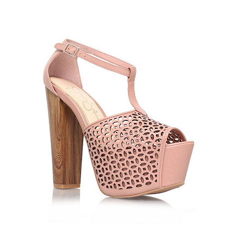 Jessica Simpson - Nude +dany5+ high heel platform shoes