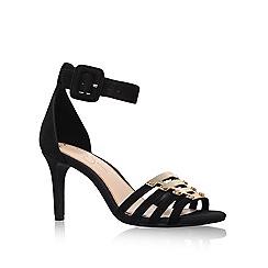 Jessica Simpson - Black 'Massulo' mid heel sandals