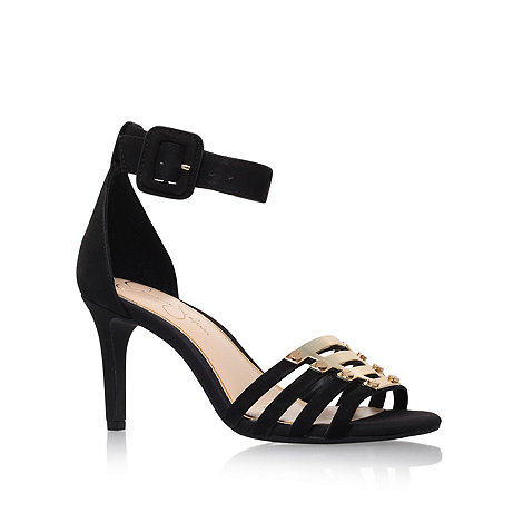 Jessica Simpson - Black 'Massulo' mid heel sandals
