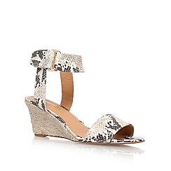 Nine West - Grey 'riley3' mid heel wedge sandals