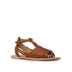 Carvela - Tan 'Karma' flat sandals
