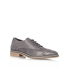 Carvela - Grey 'loot' flat brogue shoes