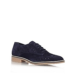 Carvela - Navy 'loot' flat brogue shoes