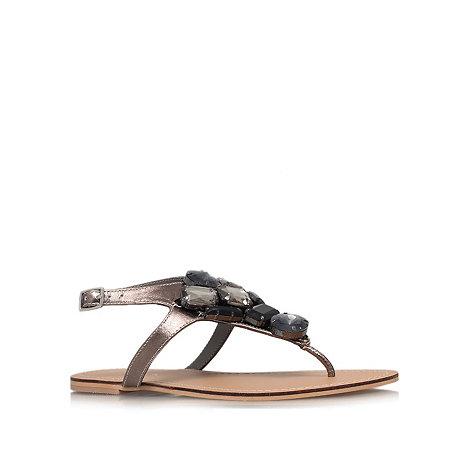 Carvela - Metallic +Kent+ flat sandals