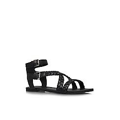 KG Kurt Geiger - Black 'Magnum' flat sandals