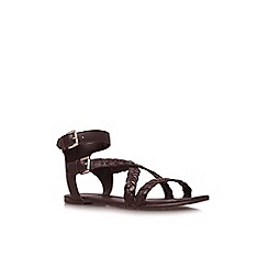 KG Kurt Geiger - Brown 'Magnum' flat sandals