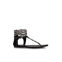KG Kurt Geiger - Brown 'Nadia' flat sandals