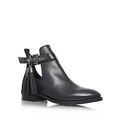 KG Kurt Geiger - Black 'Steep' low heel ankle boots