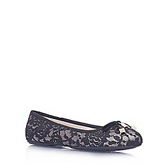 Carvela - Black/comb 'Lamp' flat slip on ballerina pump